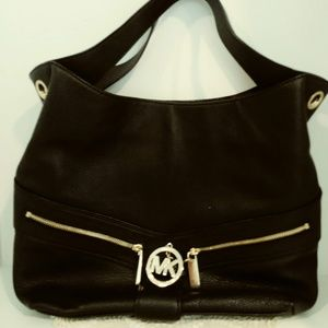 Essential Michael Kors Black Leather Handbag/Purse